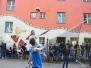 Volleyball-Action im JUZ Lehen