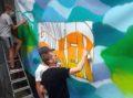 Draht-Skulpturen und Graffitiaktion in der Forelle